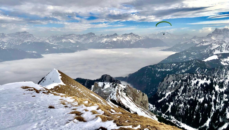 randonnée sur le grammont en valais en suisse en hiver sur le blog madame voyage
